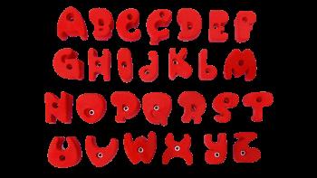 Didaks kirjan kiipeilyotteet aakkosotteet alphabet climbing holds