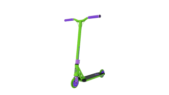 Longway summit mini scootti trick scooter green purple