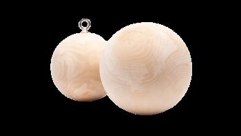 Puiset harjoittelupallot Wood training balls 150mm Ninja spheres OCR balls