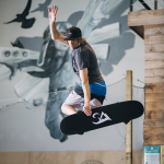 Snowboard addiction tramp board trampoliinilauta black 3