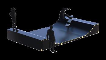 RS Parks mikrominiramppi skeittiramppi micro mini skate ramp